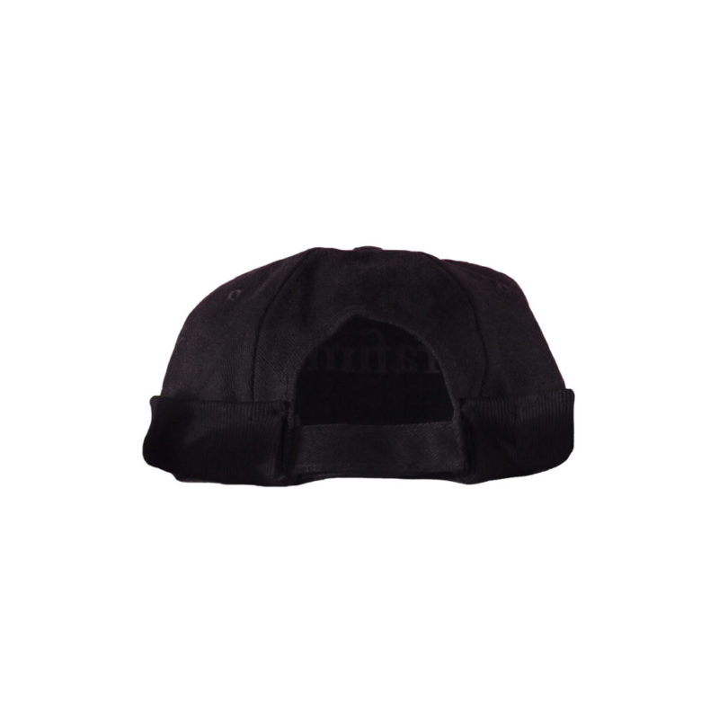 Headnut Cap – Black on Black (Back)