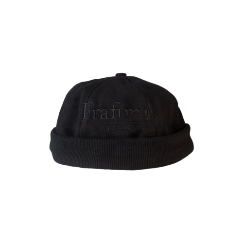 Headnut Cap – Black on Black (Front)