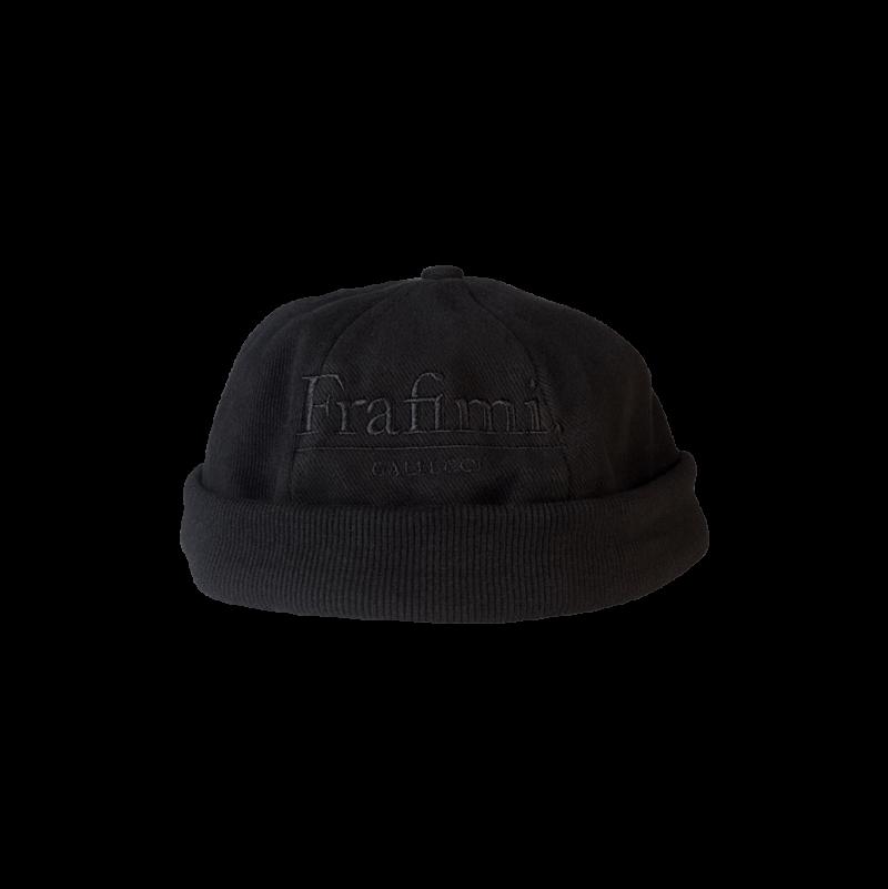 Headnut Cap – Black on Black (Front)