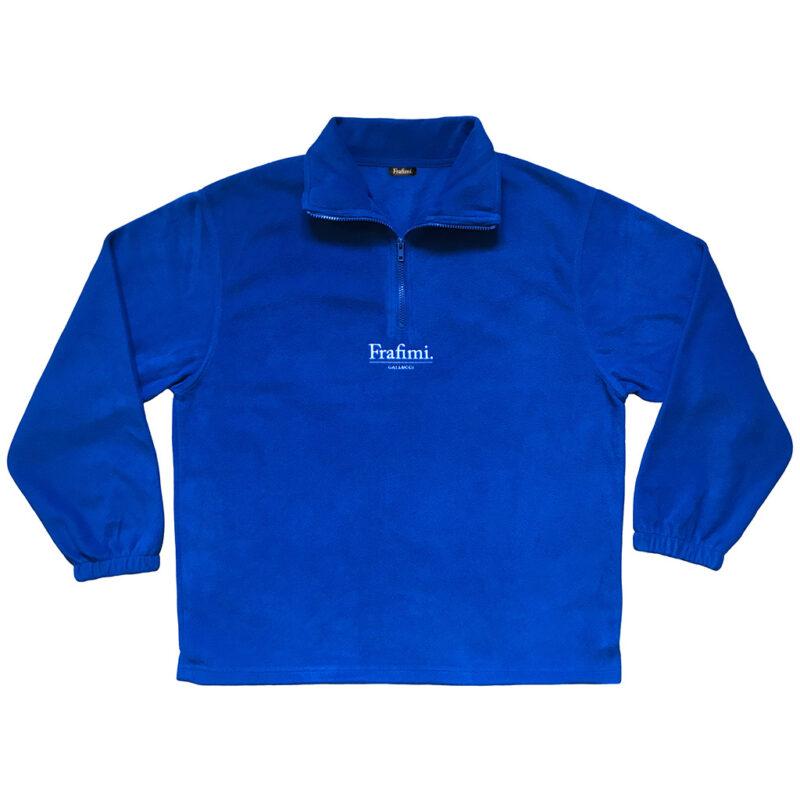Embroidered Logo Fleece – Cobalt Blue (Front)