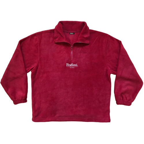 Embroidered Logo Fleece – Sangria Red (Front)